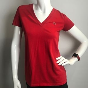 Lacoste Tops - Lacoste Women's Classic Supple Jersey V-Neck